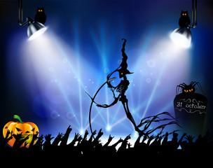 Рок концерт на halloween
