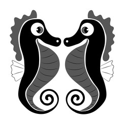 black seahorses