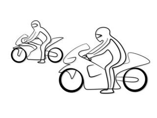 Fototapete - Tribal Motorrad Rennen