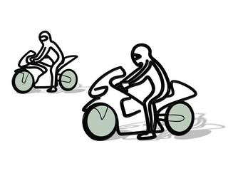 Fototapete - 3D Tribal Motorrad Rennen
