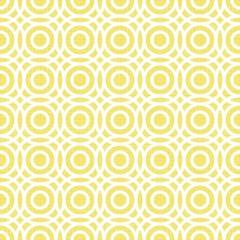 przenikające koła geometryczny deseń na żółtym tle