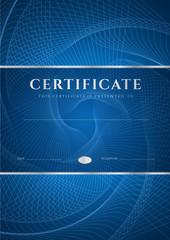 Diploma / Certificate template (design). Guilloche pattern