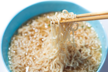 Noodles in the chopsticks