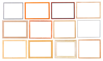set of simple modern wooden picture frames