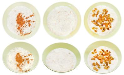 set of traditional english oat porridge