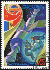 flight of the joint crew USSR - Romania in space