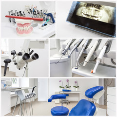 At the dentist's - collage