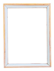 white painted simple narrow picture frame