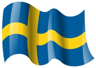 schweden fahne wehend sweden flag waving