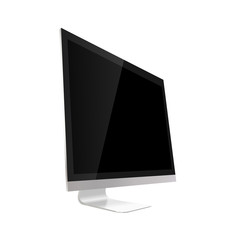 Computer display isolated on white. Vector illustration...