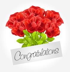Congratulations - Bouquet of roses