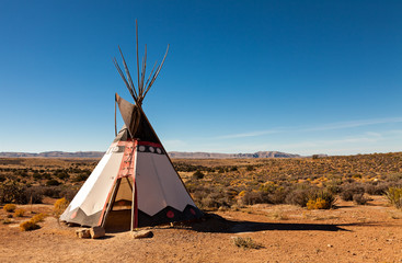Printed kitchen splashbacks Indians Authentic Teepee from Native North Americans