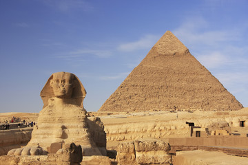 Printed roller blinds Egypt The Sphinx and Pyramid of Khafre, Cairo, Egypt