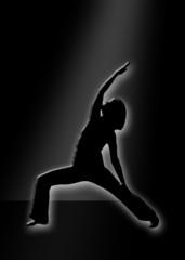 Silhouettenbild - Yoga
