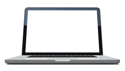 3d Laptop isolated on white, clipping path included