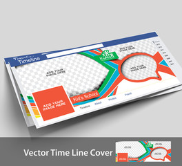 Vector School Timeline Page Design Template