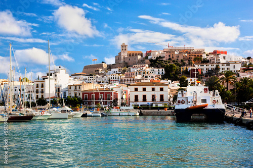Wall mural Panorama of Ibiza, Spain