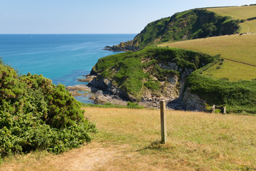 Wall Mural - South West Coast Path from Pentewan towards Mevagissey Cornwall
