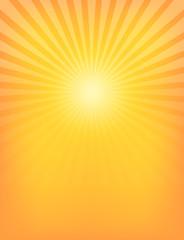 Empty Sun Sunburst Pattern
