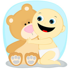 boy with a bear