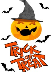 Halloween  pumrin and trick or treat