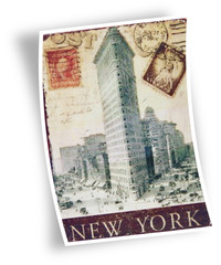 photo de carte postale ancienne de New York