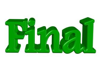 yeşil renkli final