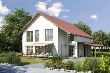 Einfamilienhaus 2 weiss