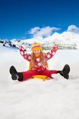 Snow day - happy child