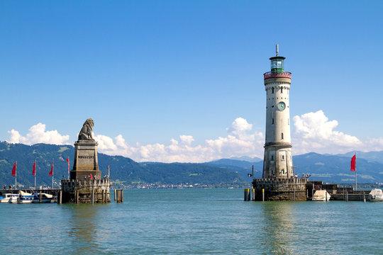 Harbour of Lindau in Lake Constance, Germany