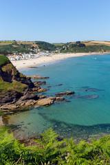 Wall Mural - Pentewan Cornwall England United Kingdom beach and blue sea