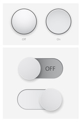 push and switch 3d button set
