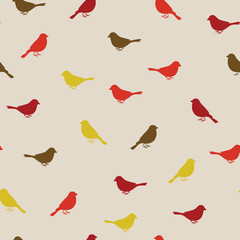 Wall Mural - Birds seamless pattern. Colorful texture