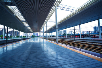 Modern train station