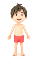 3d render of a boy showing parts of the body