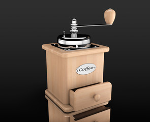 Wooden Coffee Mill