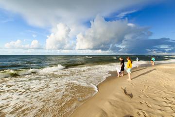 morski brzeg, plaża, Morze Bałtyckie, Polska