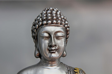 head of a religious Buddhist sculpture