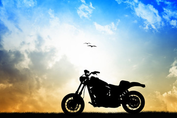 Wall Mural - motorcycle silhouette