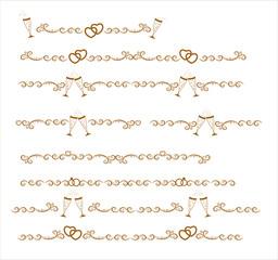 The original gold seamless decorative patterns