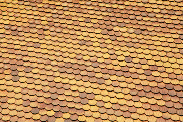 Pantile roof background