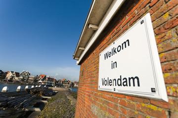 the port of Volendam. Netherlands