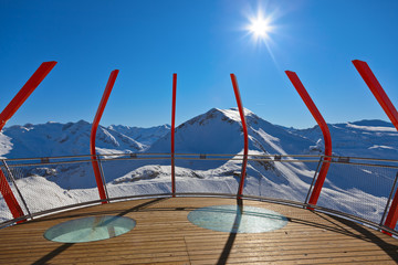 Fototapete - Viewpoint at mountains ski resort Bad Gastein - Austria