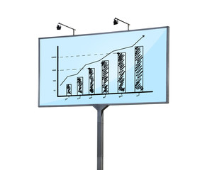 billboard with graph