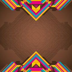 Futuristic abstraction with geometric objects.