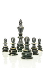 Black king and pawns