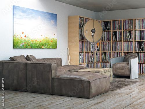 wohnzimmer ecke vinyl sammlung stockfotos und lizenzfreie bilder auf bild 55199272. Black Bedroom Furniture Sets. Home Design Ideas