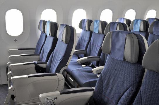 aircraft seats and windows