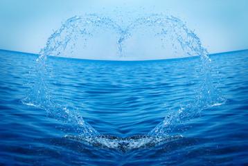 cuore nel mare - amore per l'acqua