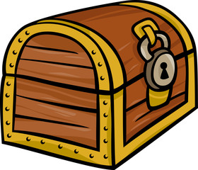 treasure chest clip art cartoon illustration